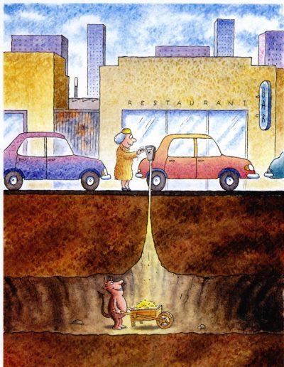 Devil and parking meter