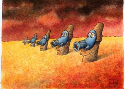 Easter Island gas masks
