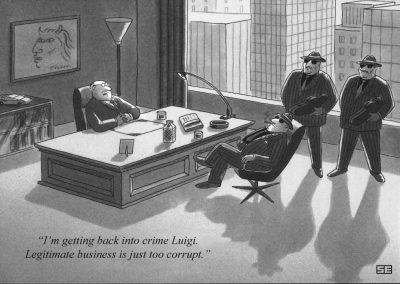 Legitimate business too corrupt