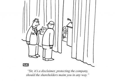 Shareholders maim you