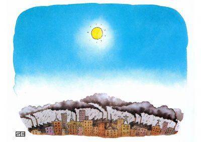 Sun over smog city