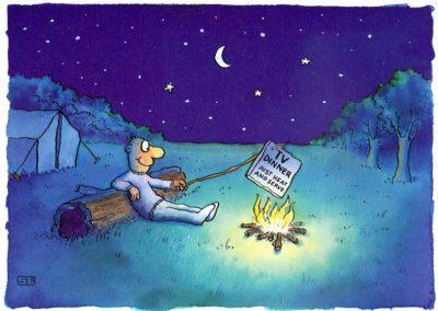 TV dinner campfire