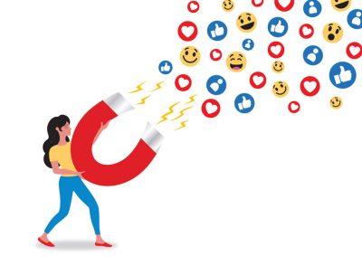 Social Media - likes and loves