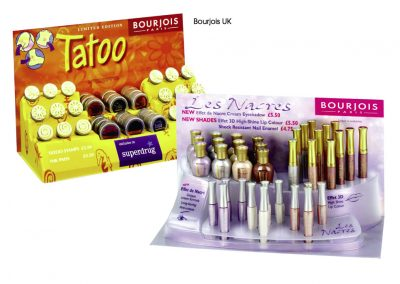 Counter-top Bourjois merchandisers