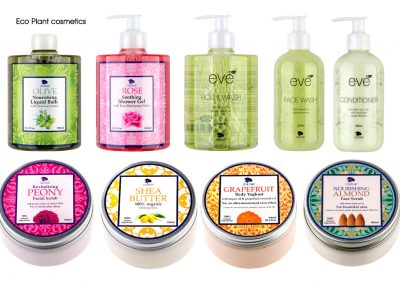 Cosmetics labelling for Eco Plant