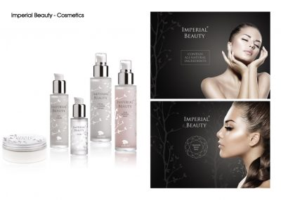 Imperial Beauty - packaging and brochure