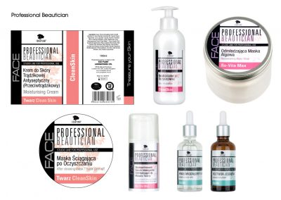 Professional Beautician packaging and labels
