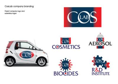 Cos Lab company branding