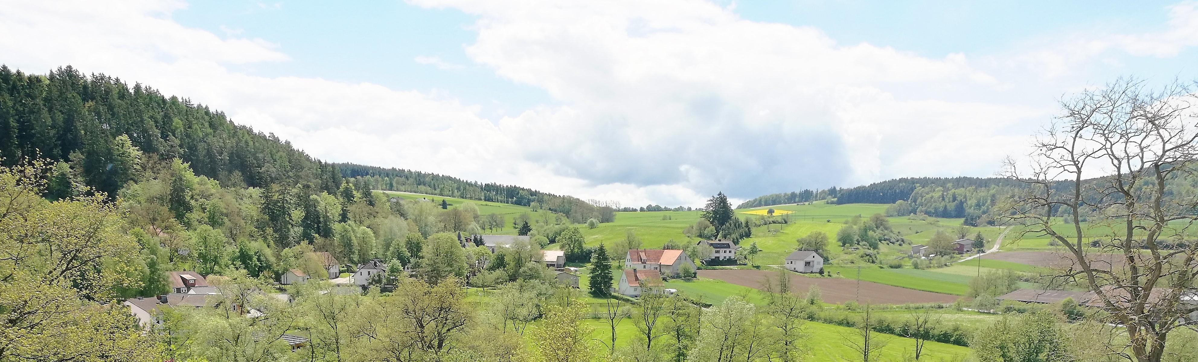 Uitzicht op 't dal van Dalwigksthal