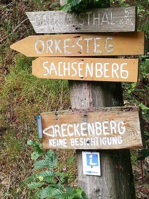 Wandeling dal Dalwigksthal omgeving