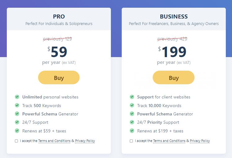 rankmath pricing