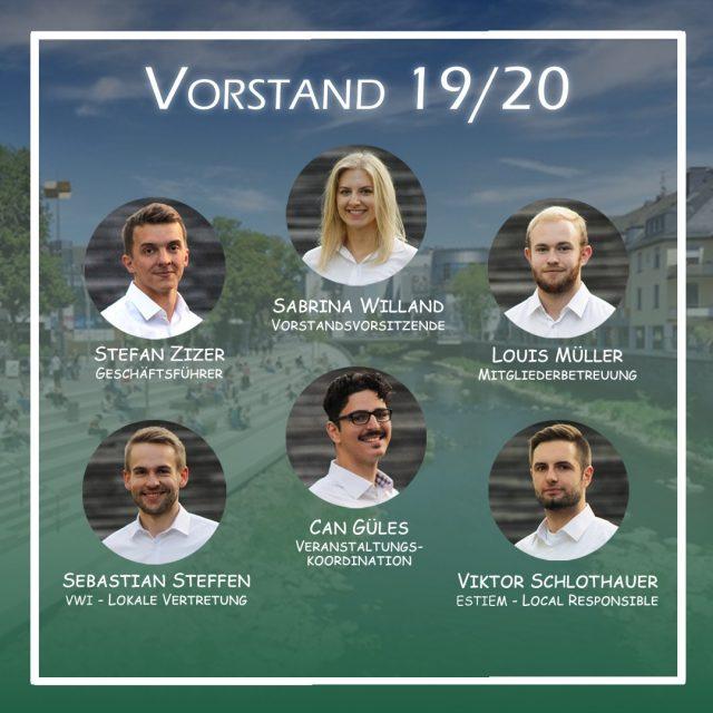 Vorstand VWI ESTIEM Hochschulgruppe Siegen e. V. 2019-2020