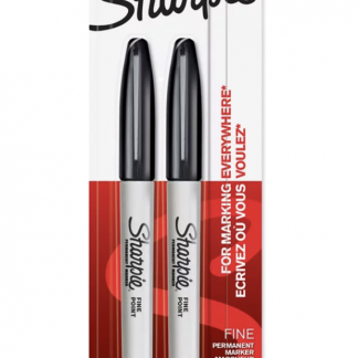 Sharpie Black Fine Twin Pack