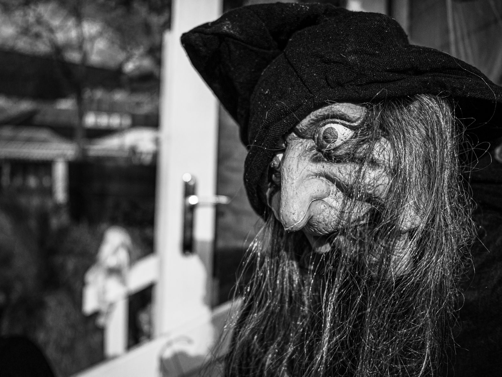 An old witch in Tivoli, Halloween