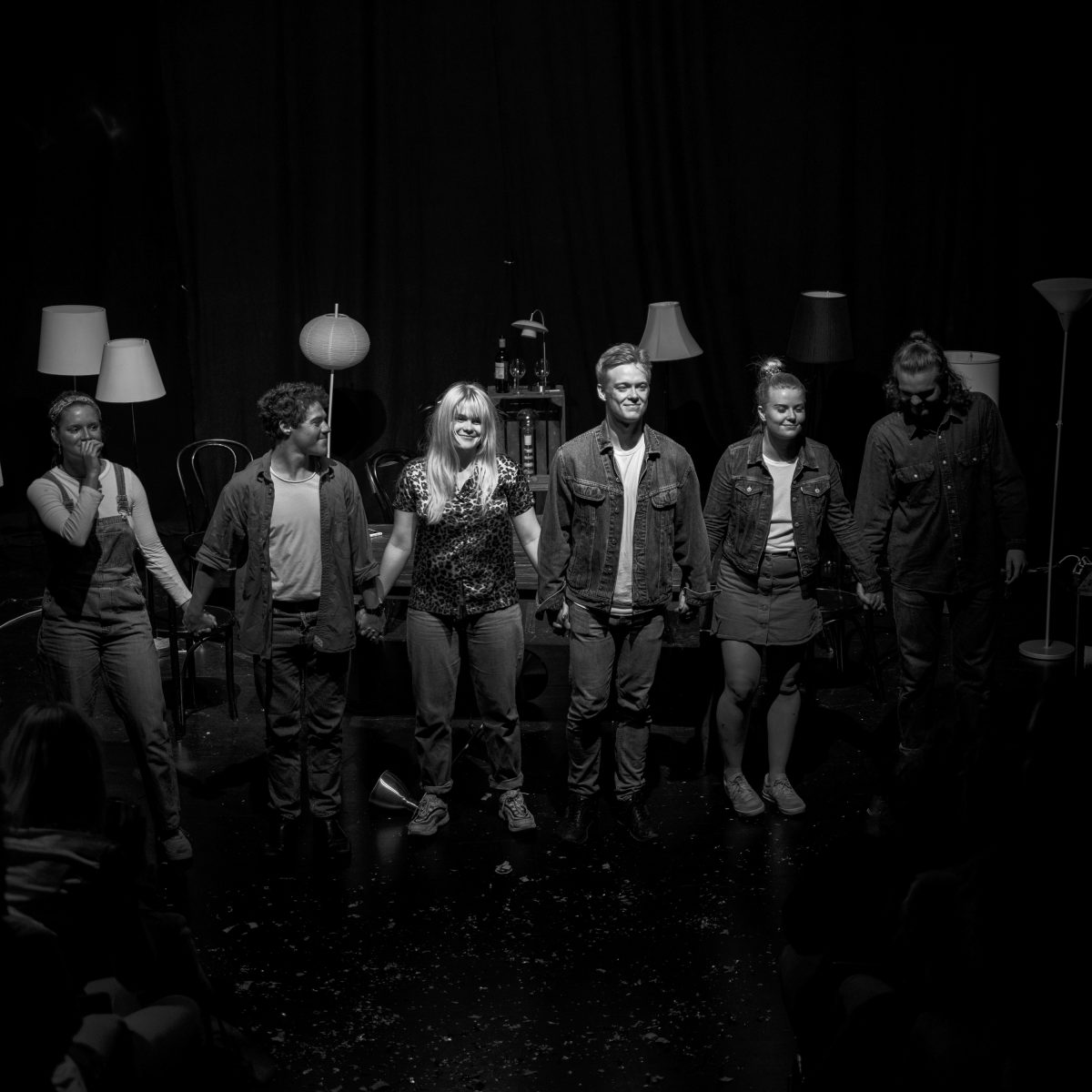 Theater photography - Den sidste nadver (The Last Supper) at Vildskud 2019 theater festival