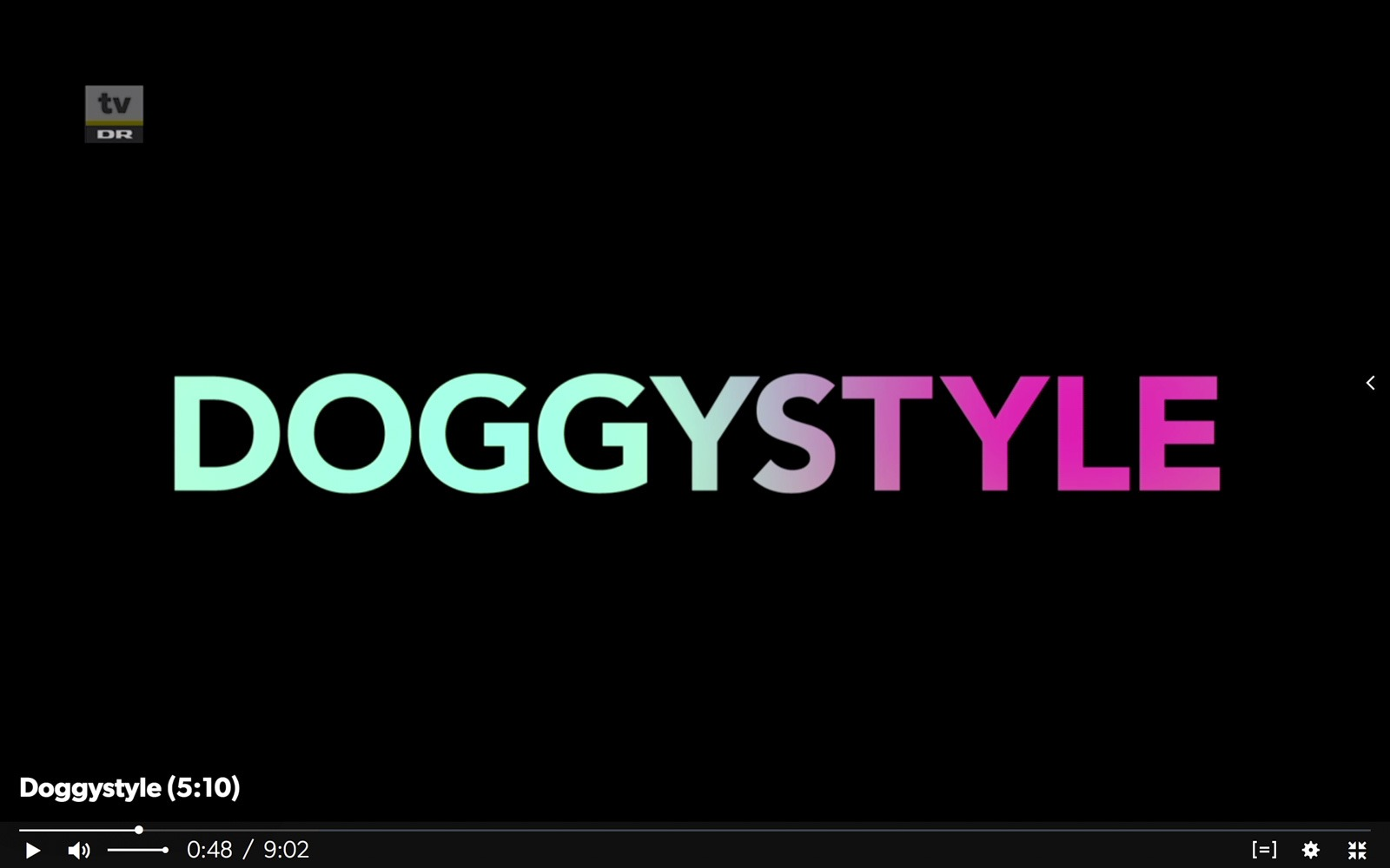 Screendump of Doggystyles title sequence