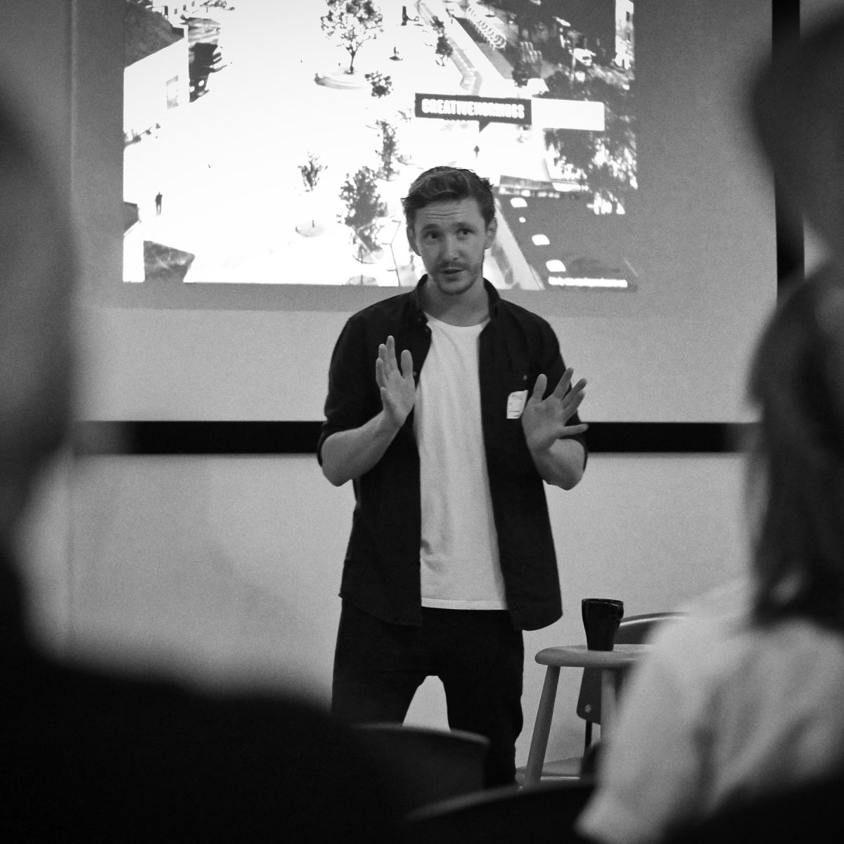 Event photography: Creative Mornings Sep 19 - Mikkel