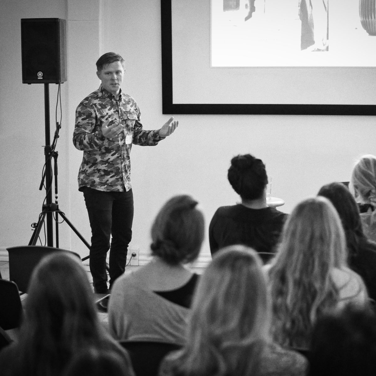 Event photography: Creative Mornings Sep 19 - Hans-Christian Bauer
