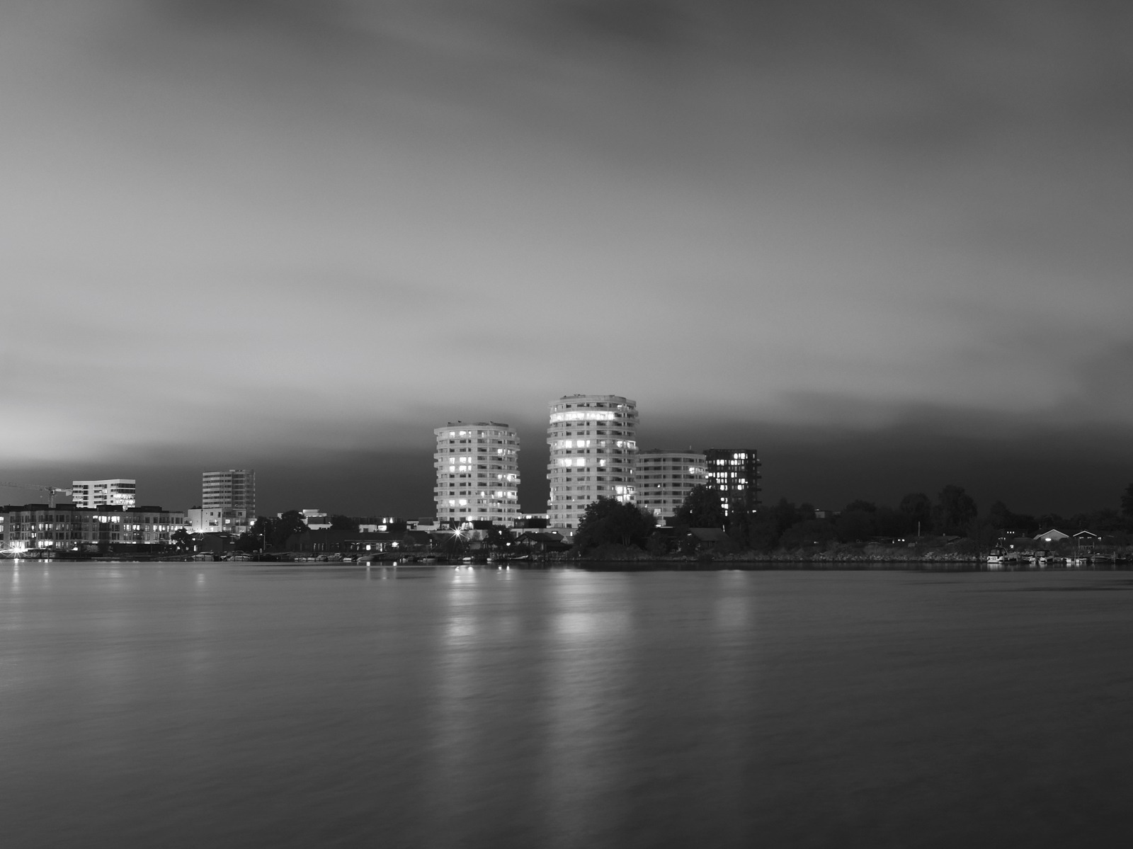 Urban geometry: View from The South Harbour to Islands Brygge - Voigtländer 17.5mm for Micro Four Thirds