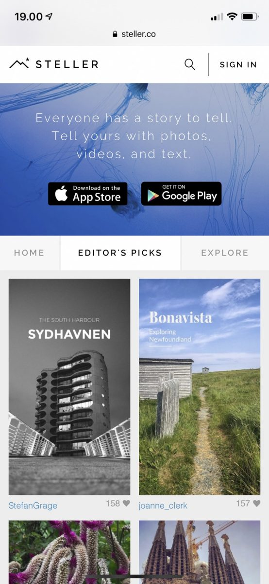 "Sydhavnen was on the ""editor's picks"" page"