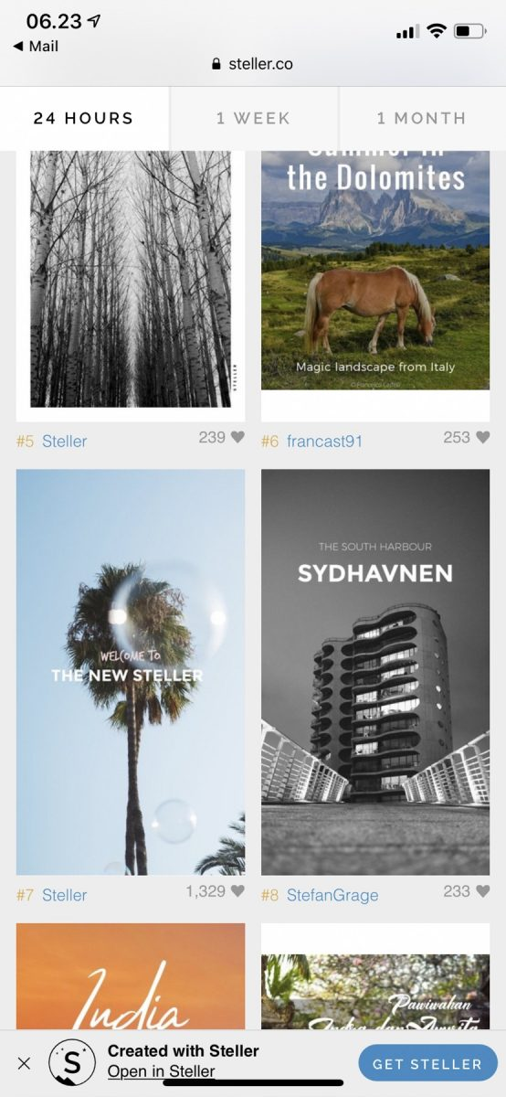 Sydhavnen on Steller - no. 8 on the 24 hour chart