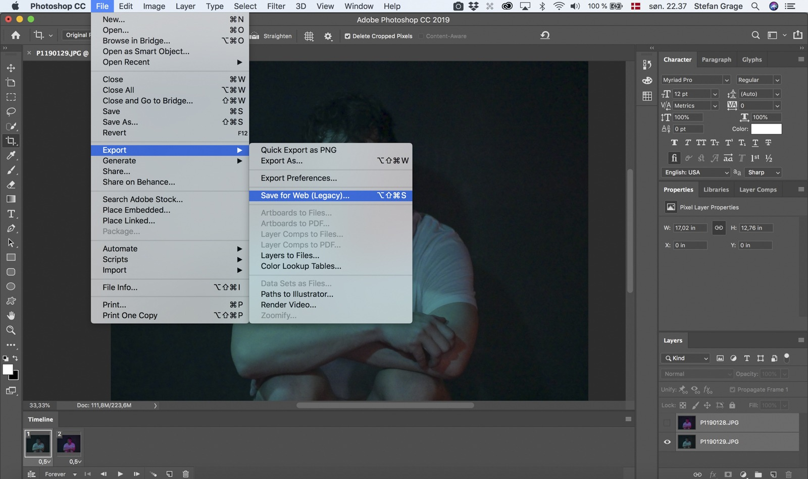 Photoshop: Export Your GIF-animation