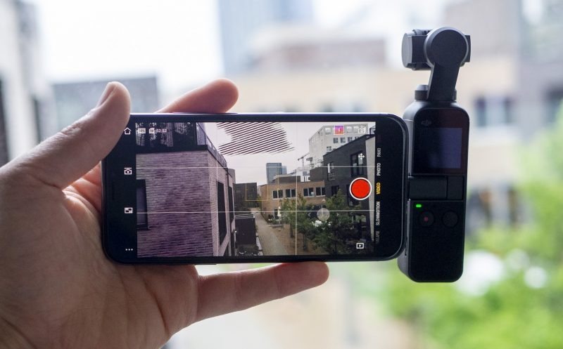 DJI Osmo Pocket and iPhone X
