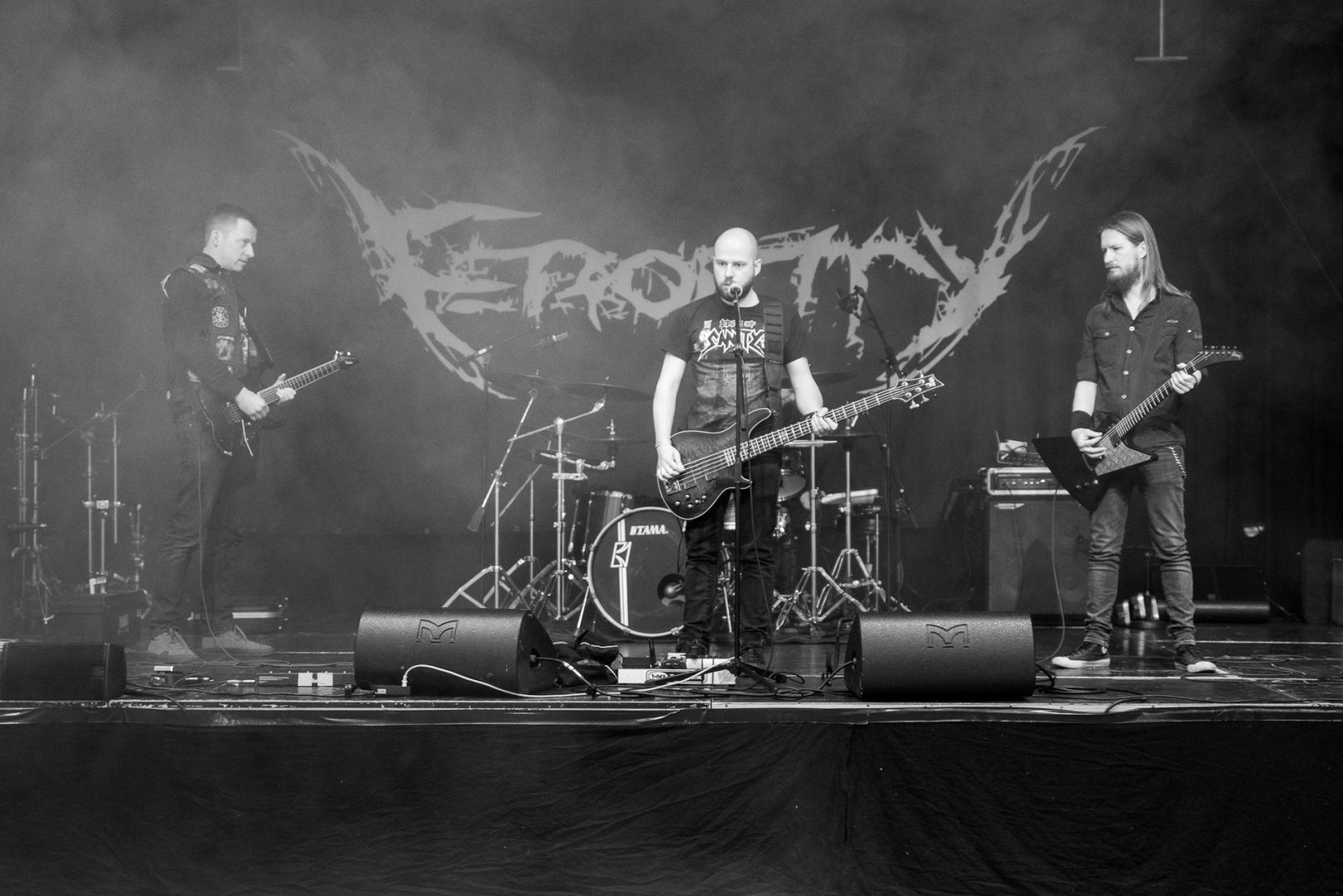 Concert Photography: Electric Hellride making a sound check at Hammer Smashed Face in Frederikshavn, 2019
