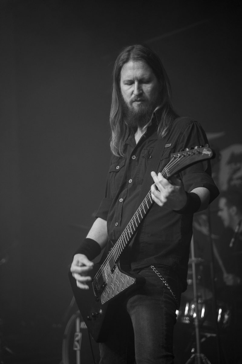 Concert Photography: Nicklas Adamsson fom Electric Hellride making a sound check at Hammer Smashed Face in Frederikshavn, 2019