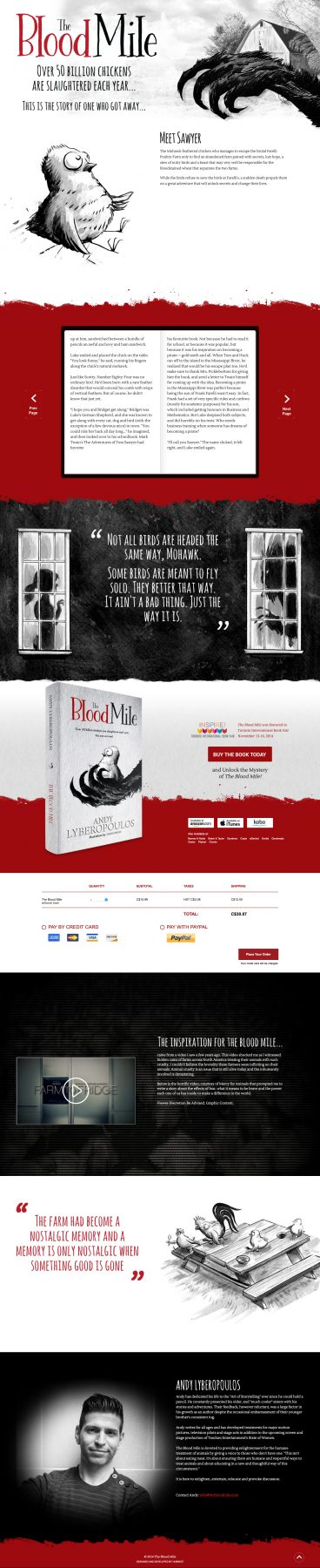 thebloodmile.com screendump