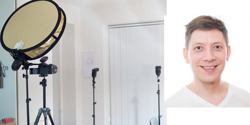 High-key selvportræt