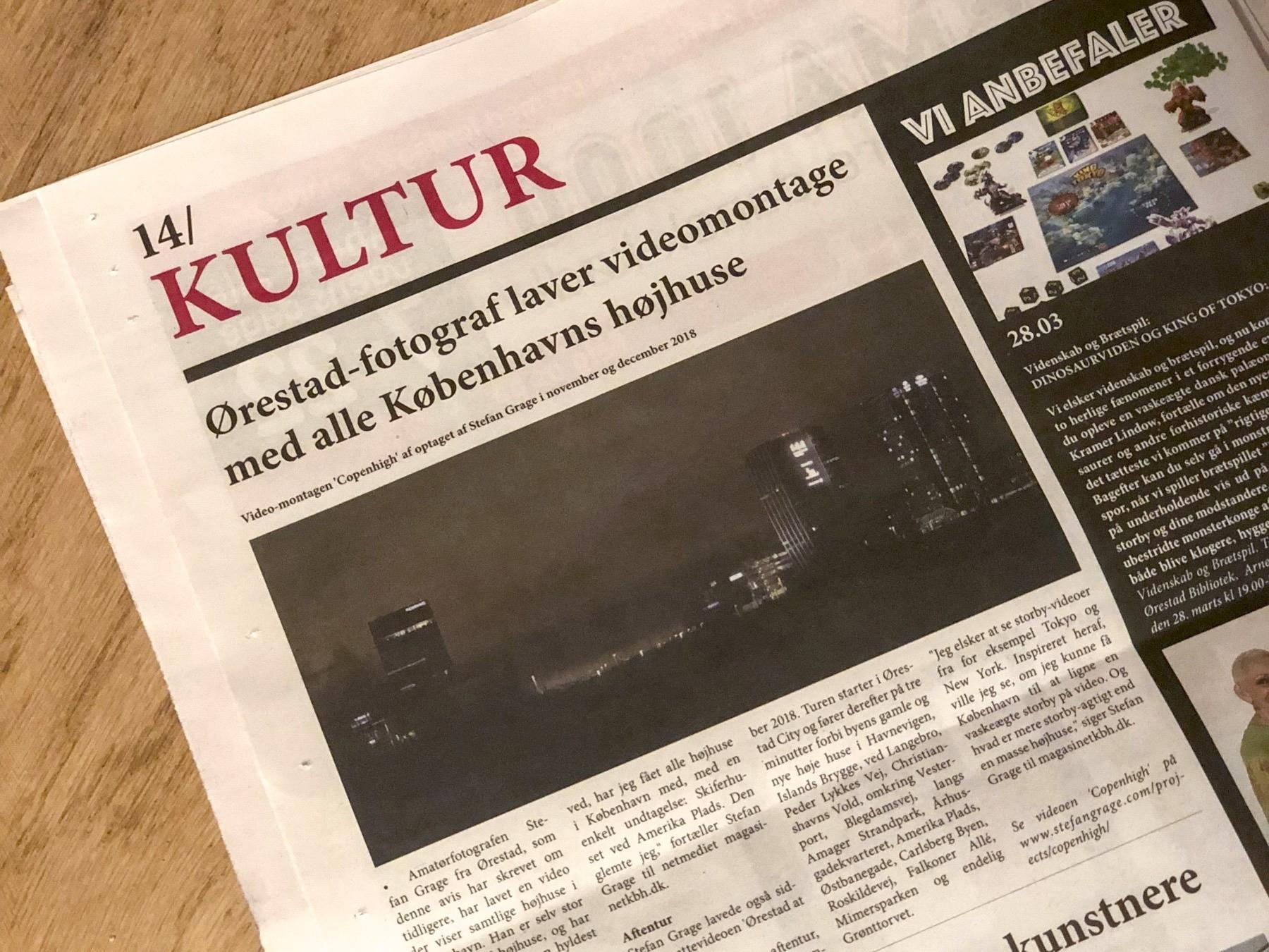 Ørestad fotograf Stefan Grage i Ørestad avis igen