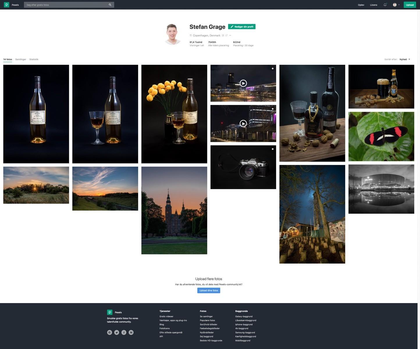 Min profil på Pexels.com