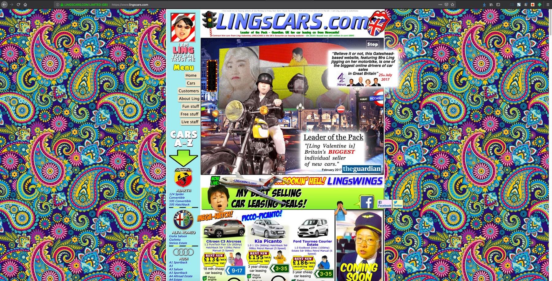 Screenshot af LingCars.com