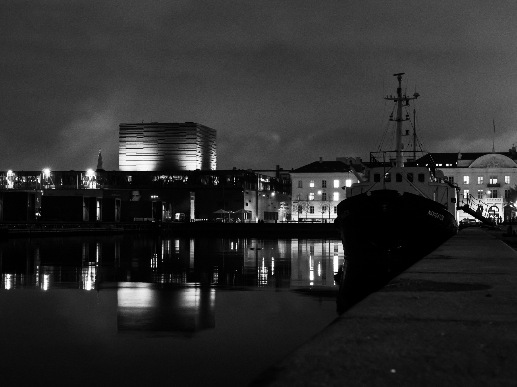 Havnefronten ved Skuespilshuset