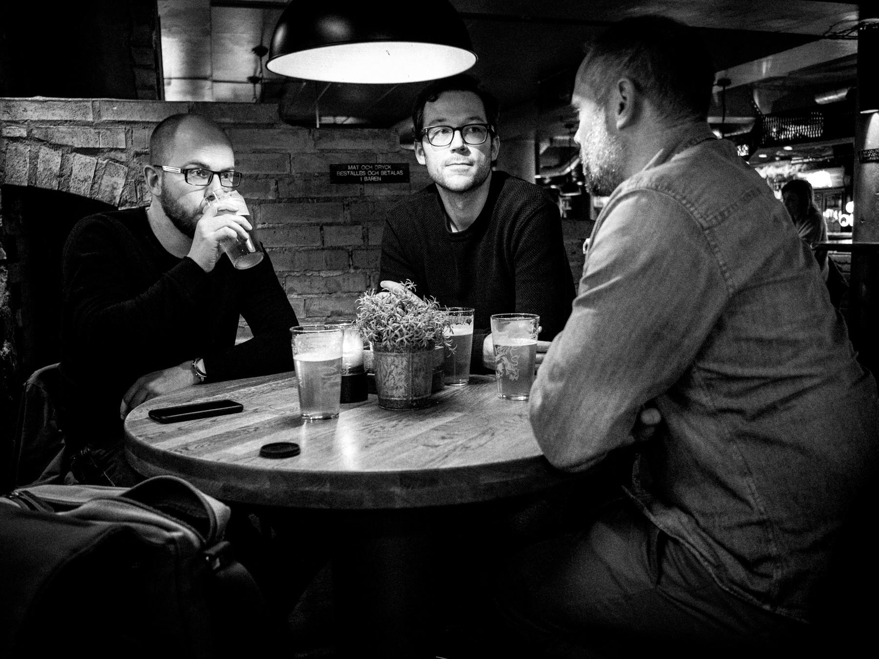 Casper, Robert og Christian på Utposten i Helsingborg