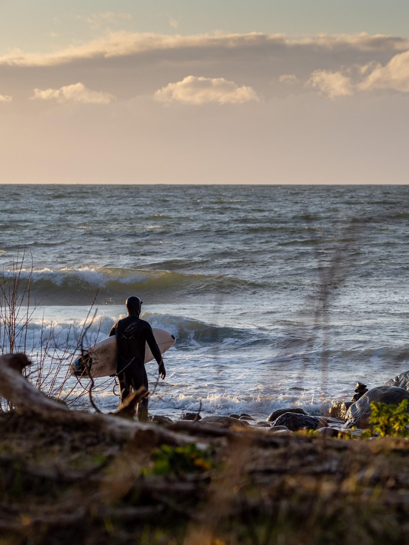Stranden ved Hornbæk Plantage - En surfers paradis
