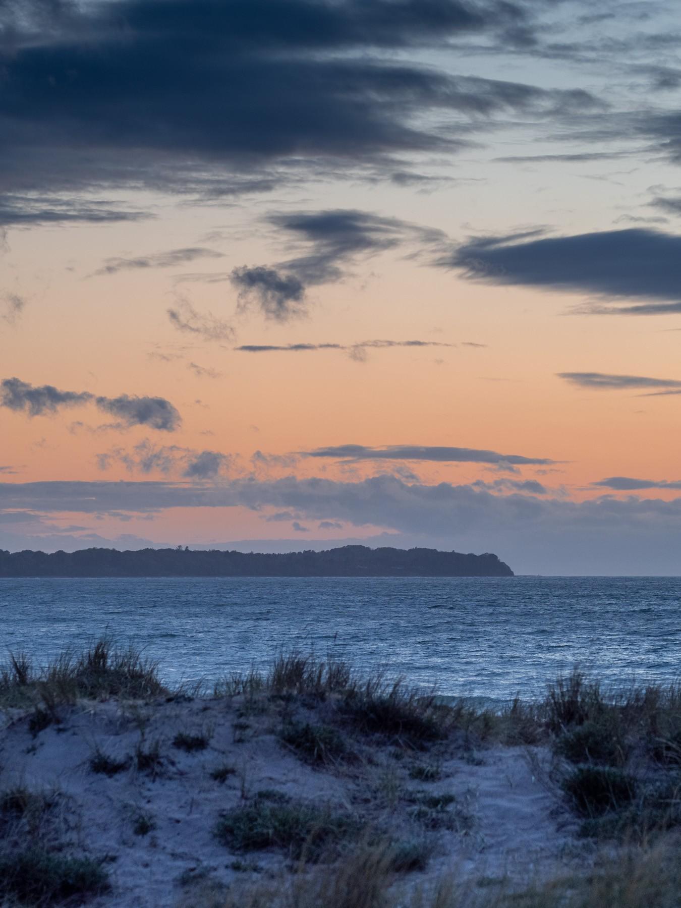 Solnedgang ved Hornbæk Strand
