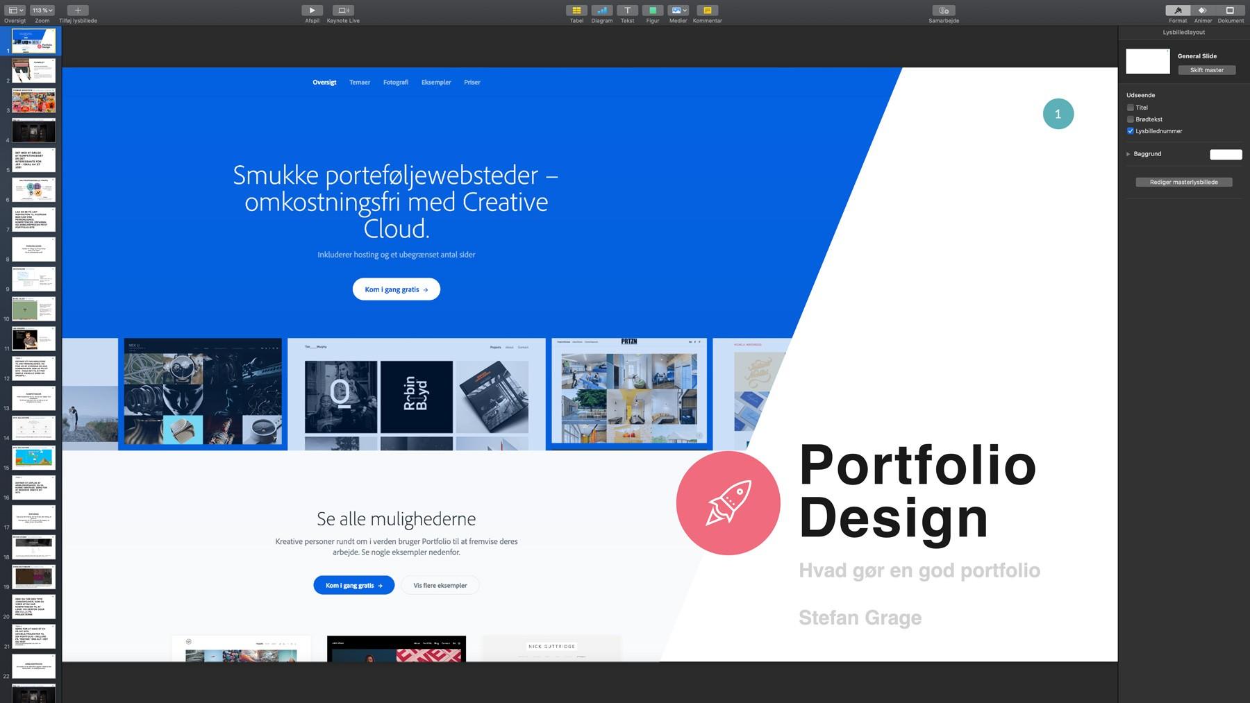 Portfolio design - et oplæg om design af portfolio websites