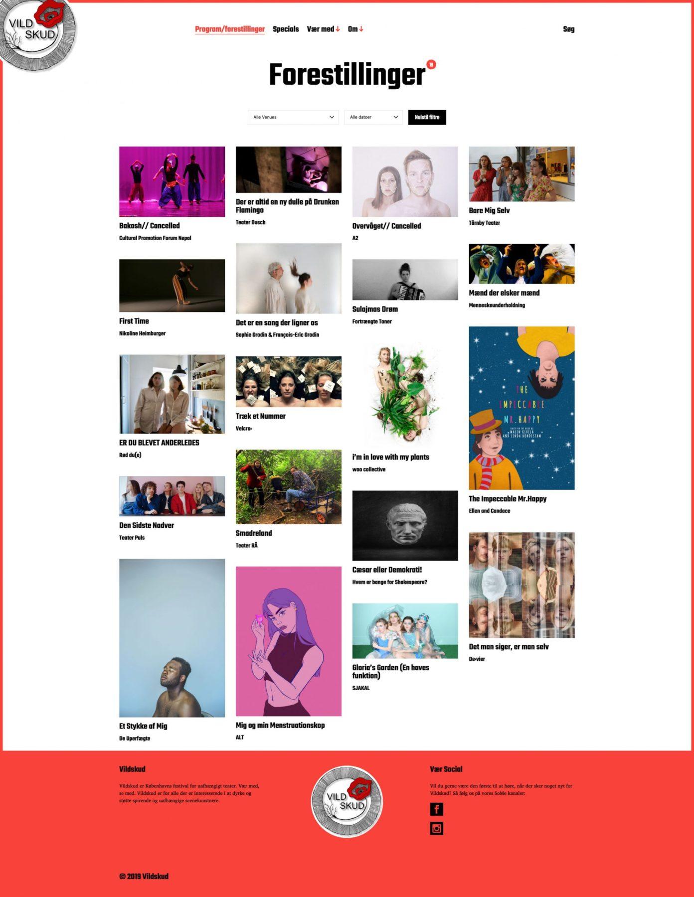Vildskud website