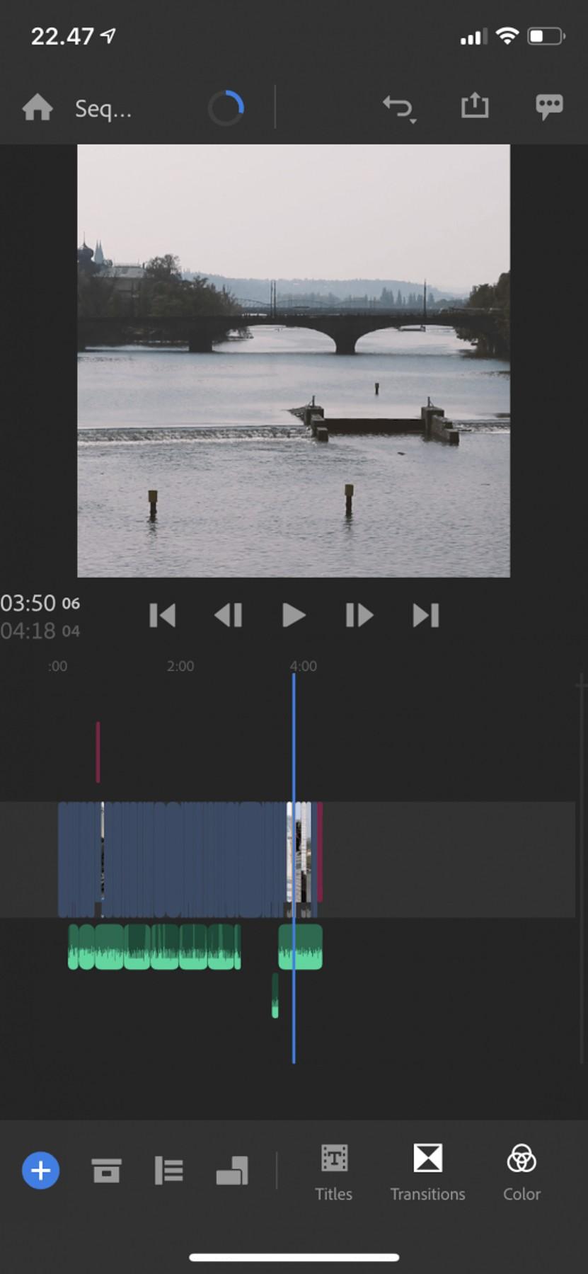 Adobe Premiere Rush på mobilen