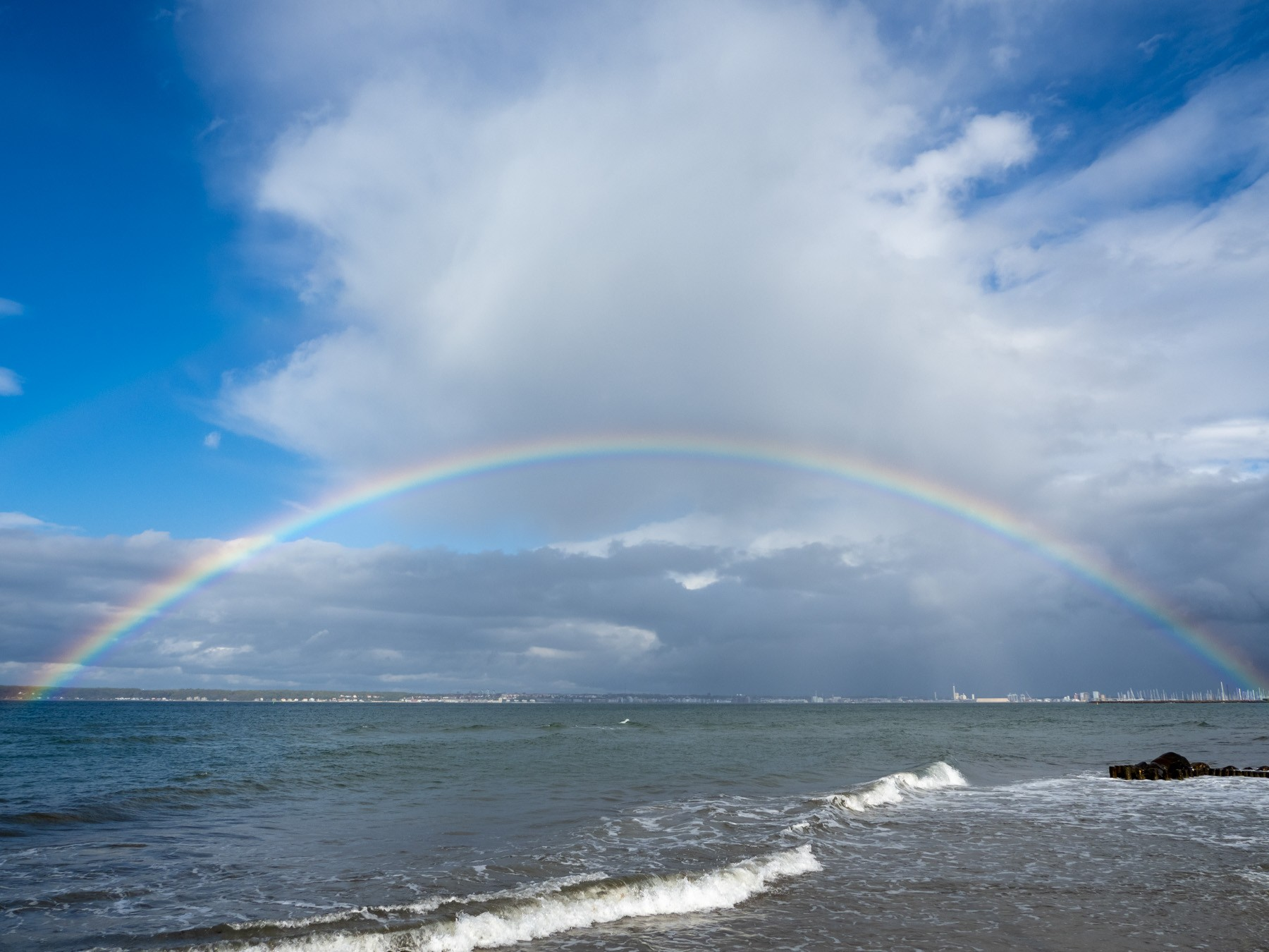 Regnbue over Øresund