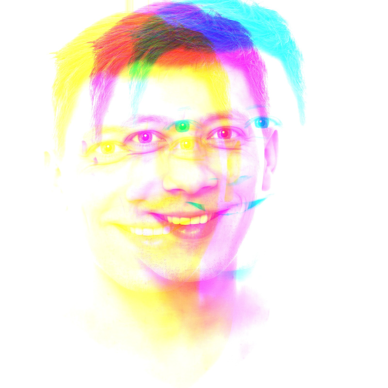 RGB Shift selfie