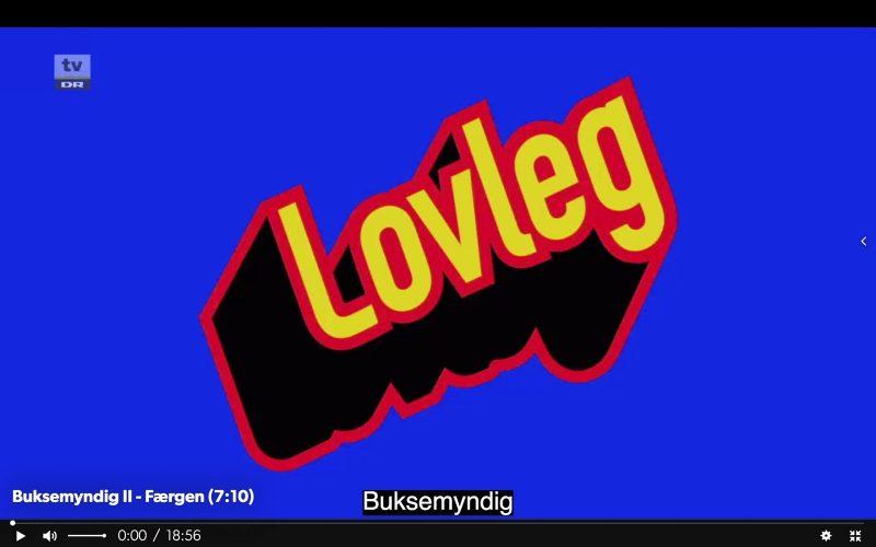Screendump af Buksemyndigs titelsekvens (norsk: Lovleg)
