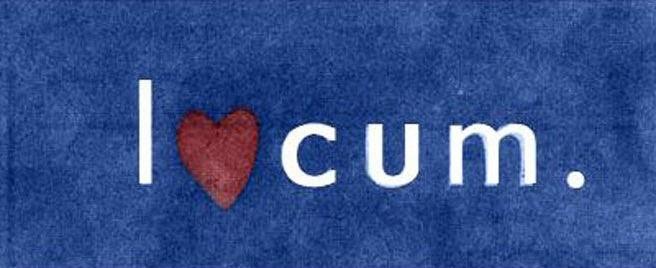 Logo-bommert: Locum -> I love cum