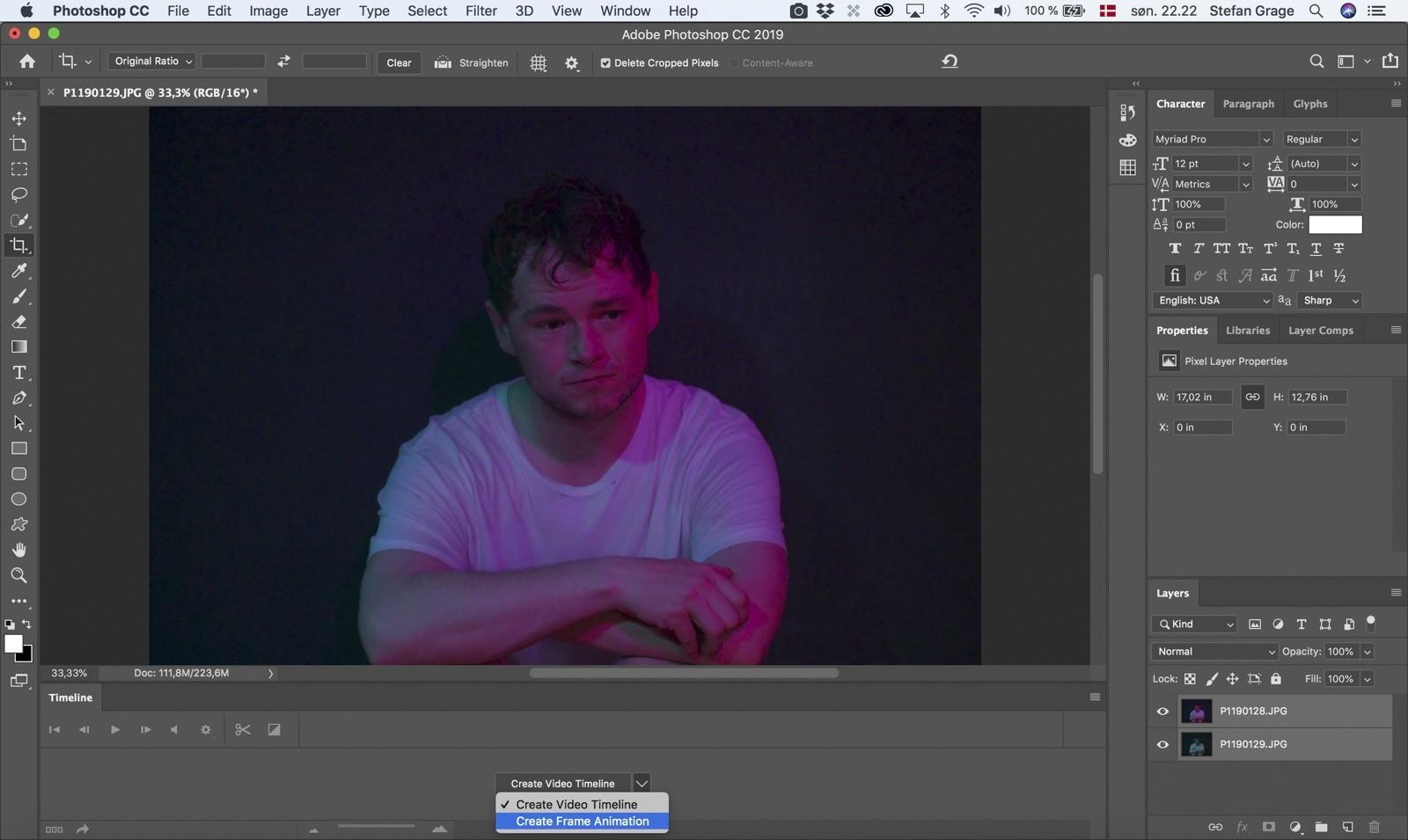 Photoshop: Create Frame Animation