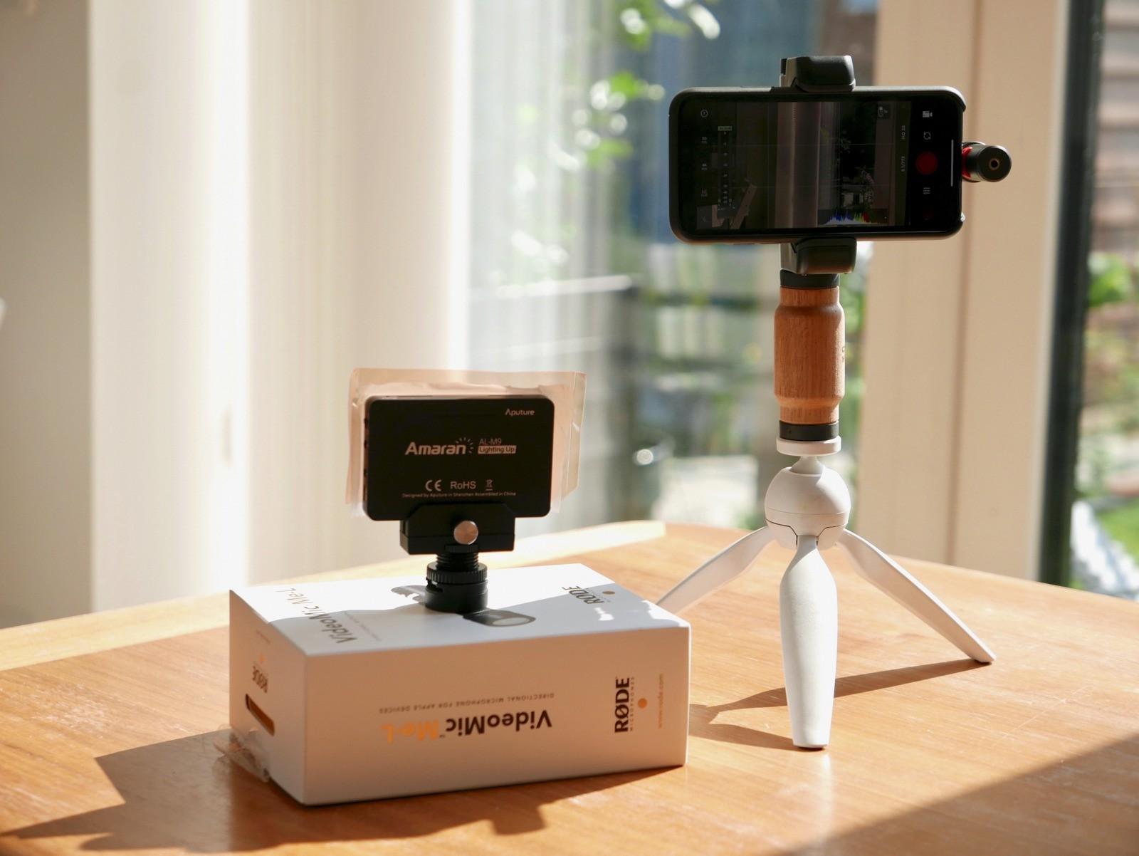 En god, lille smartphone foto/video rig