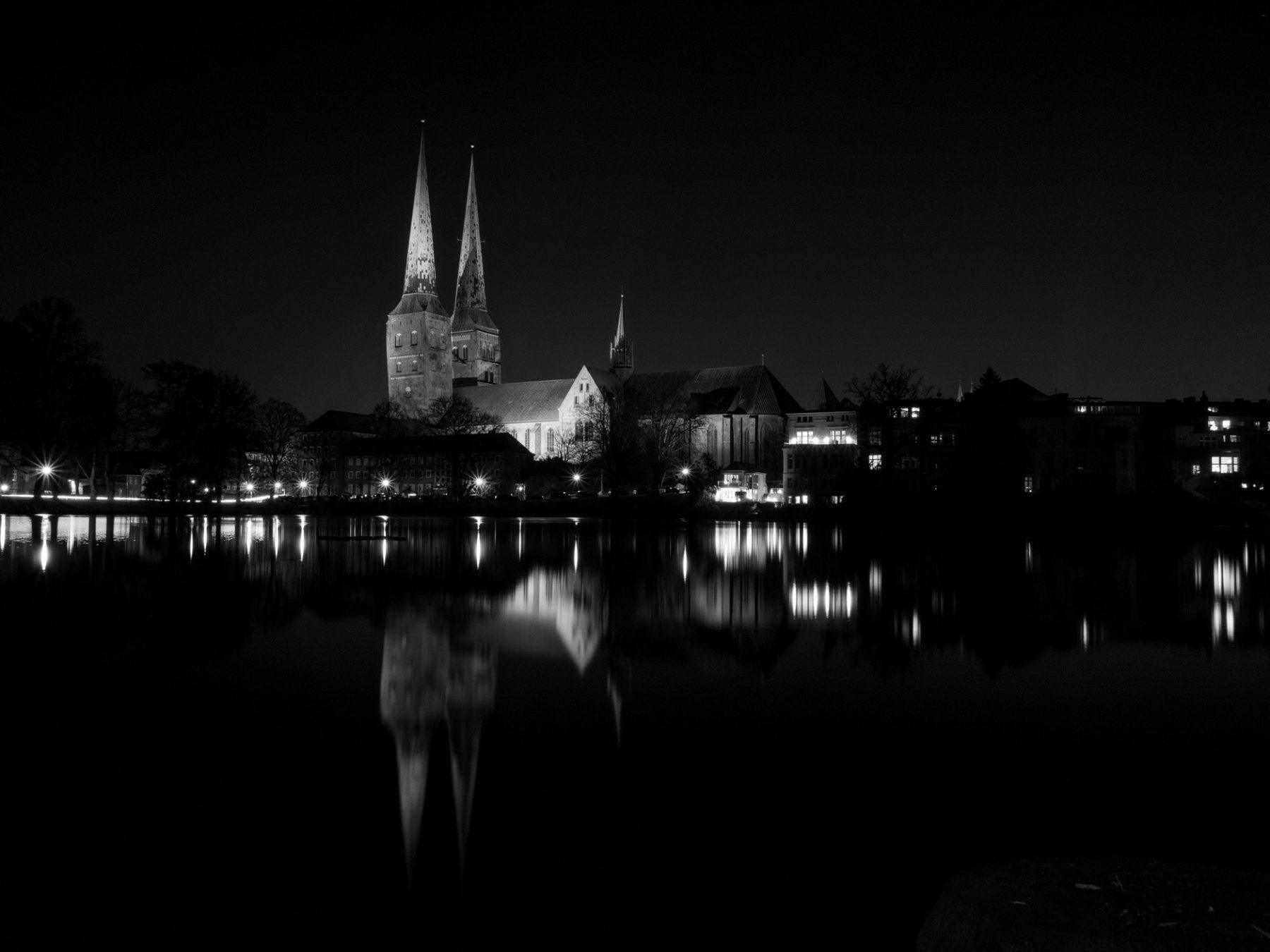 Katedralen i Lübeck - natfotografering