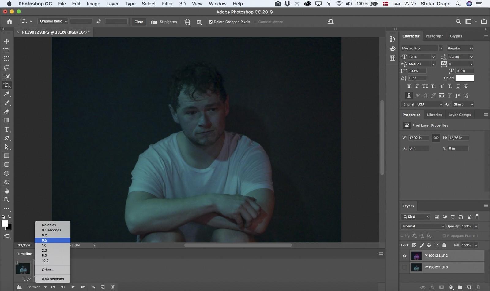 Photoshop: Juster varighed for billederne i GIF'en