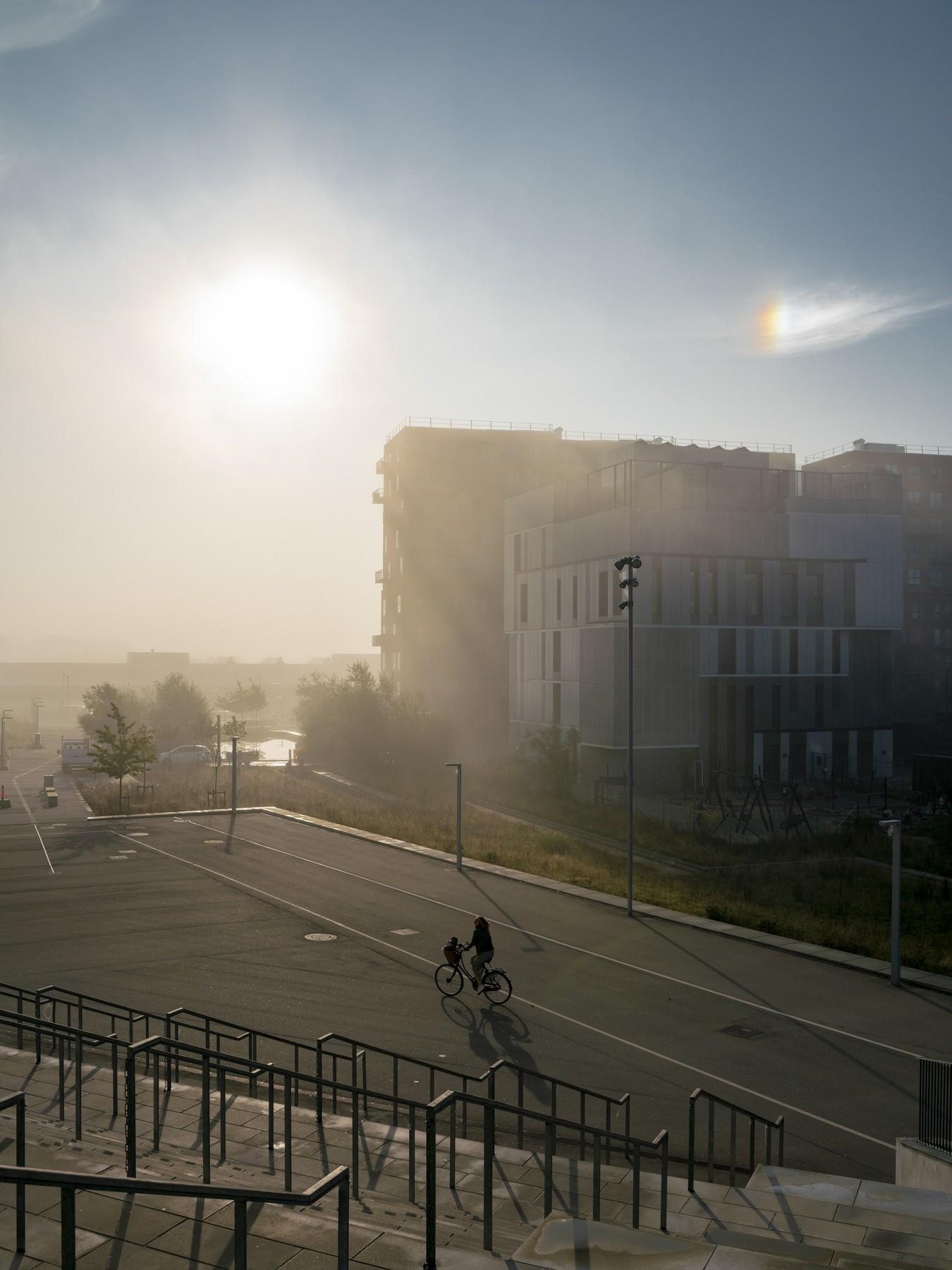 Bisol/solhund ved Arenakvarteret